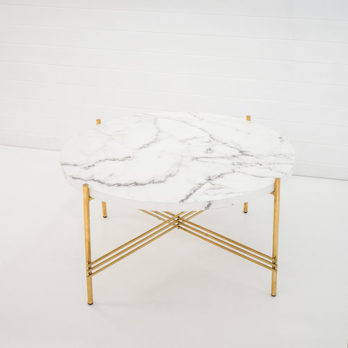 Gold Marble Coffee Table Rental Annorlunda